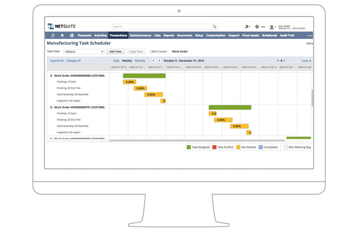 NetSuite production management