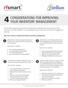 warehouse inventory management, Terillium, NetSuite, RF-SMART