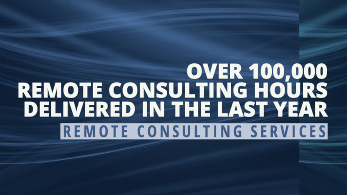 100,000 hours of remote consulting