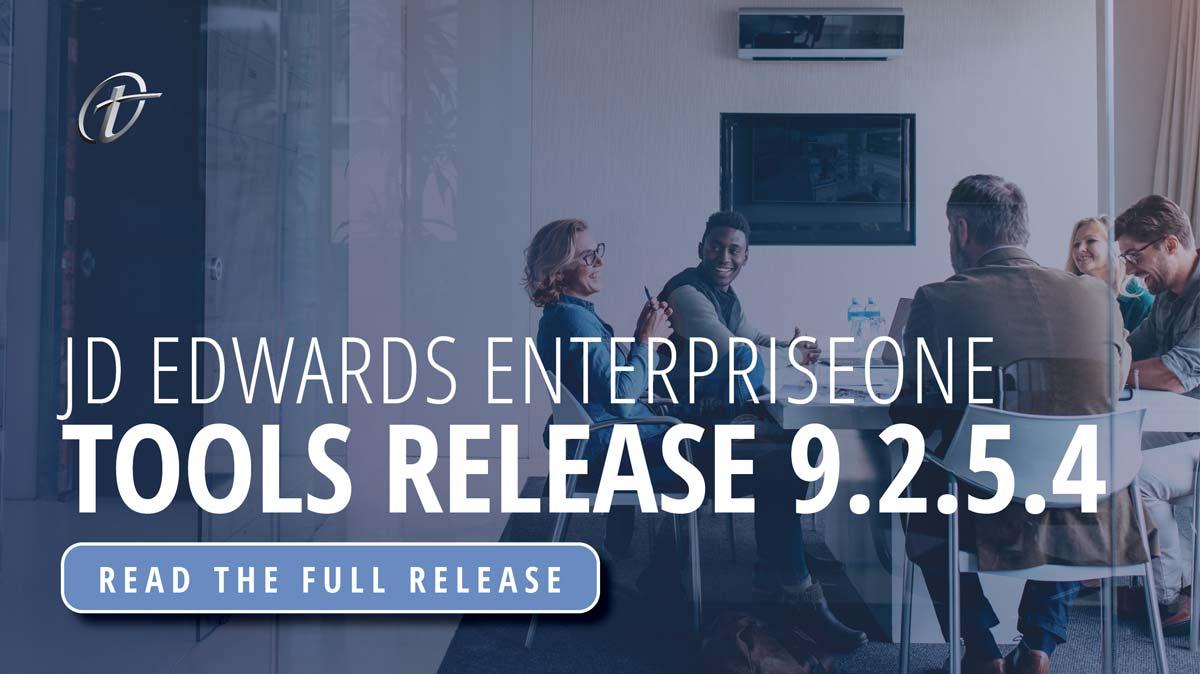 Oracle JD Edwards EnterpriseOne Tools Release 9.2.5.4