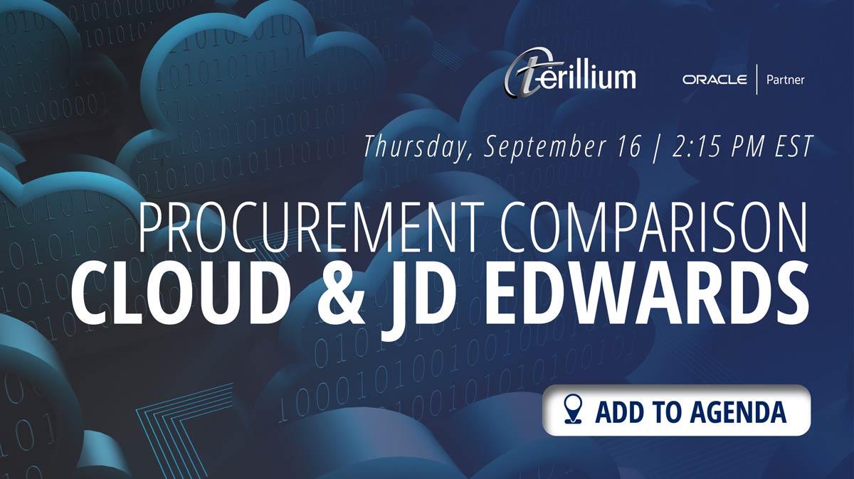 INNOVATE Procurment Comparison JDE and Cloud